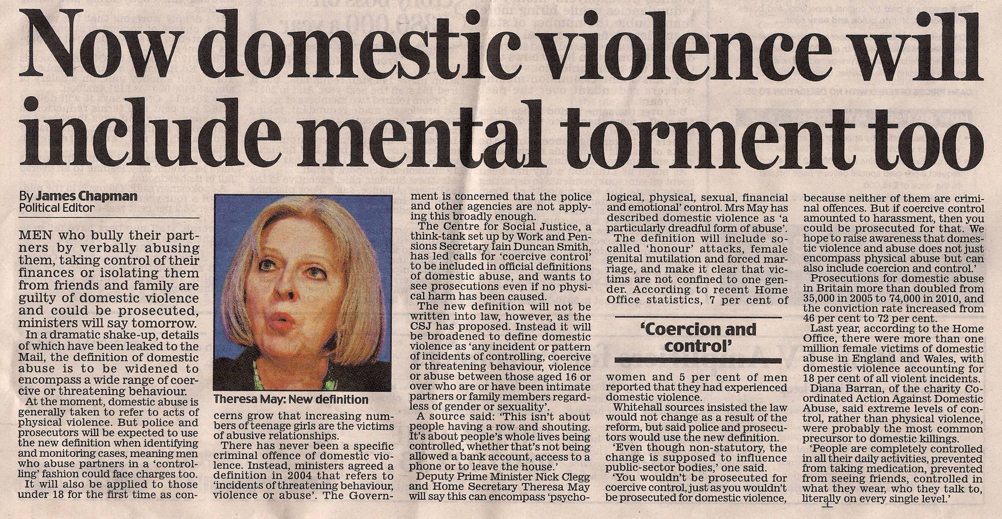 Theresa May Domestic Violence October 2012